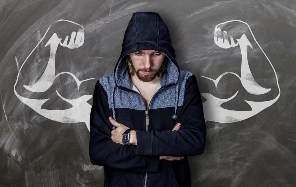 Building rock hard Biceps.