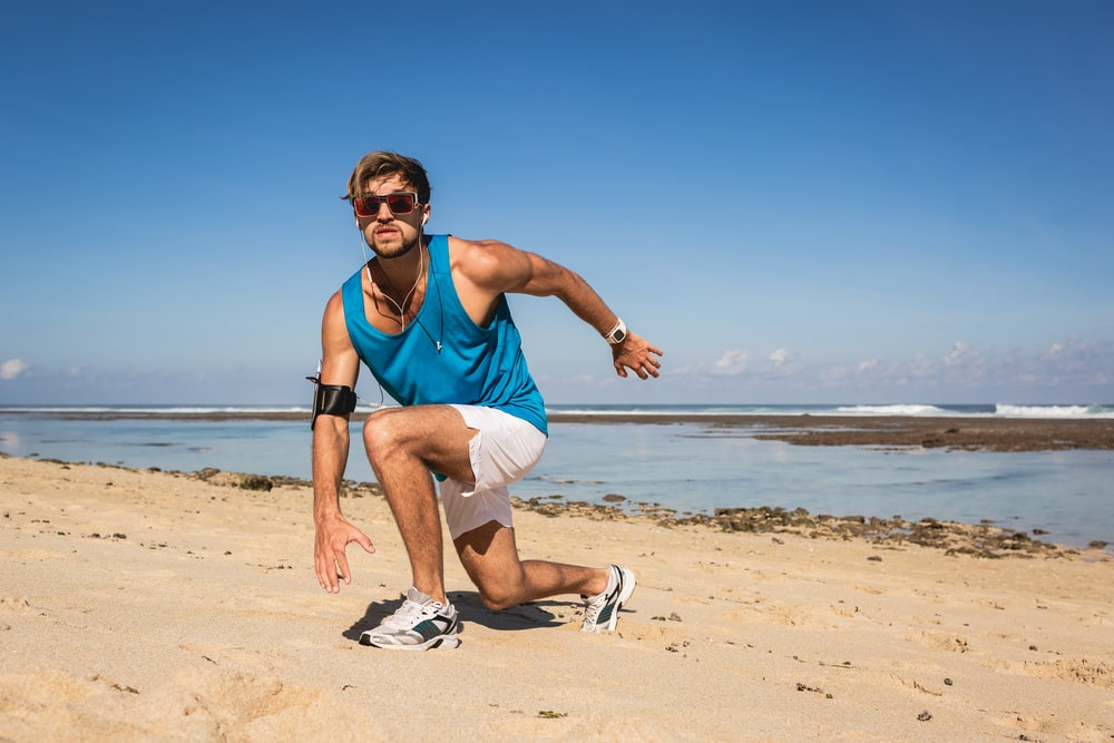 Lunges for good morning exercise.