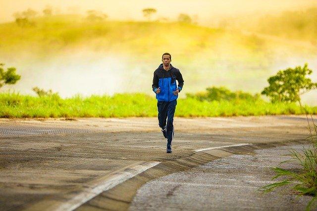 Running for good morning exercise.
